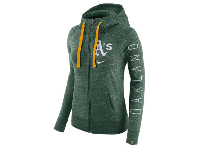 Oakland Athletics Nike MLB Women's Gym Vintage Full Zip Hooded Sweatshirt