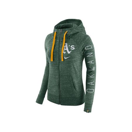 Oakland Athletics Nike MLB Women's Gym Vintage Full Zip Hooded Sweatshirt