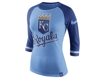 Kansas City Royals Nike MLB Women's Tri Raglan T-Shirt