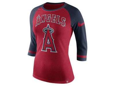 Los Angeles Angels Nike MLB Women's Tri Raglan T-Shirt