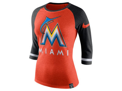 Miami Marlins Nike MLB Women's Tri Raglan T-Shirt