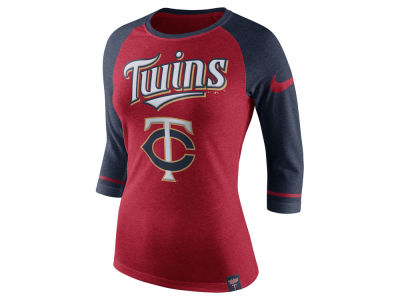 Minnesota Twins Nike MLB Women's Tri Raglan T-Shirt