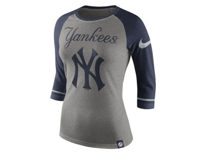 New York Yankees Nike MLB Women's Tri Raglan T-Shirt
