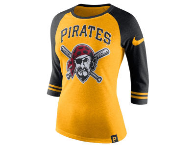 Pittsburgh Pirates Nike MLB Women's Tri Raglan T-Shirt