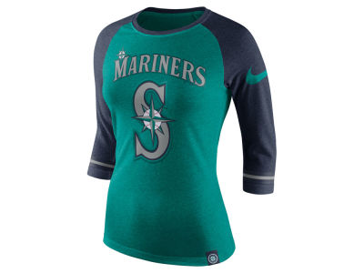 Seattle Mariners Nike MLB Women's Tri Raglan T-Shirt