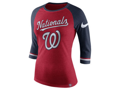 Washington Nationals Nike MLB Women's Tri Raglan T-Shirt