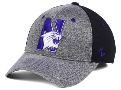 Northwestern Wildcats Zephyr NCAA Graphite Stretch Cap