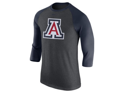 Arizona Wildcats Nike NCAA Men's Triblend Logo 3/4 Sleeve Raglan T-Shirt