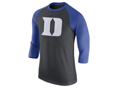 Duke Blue Devils Nike NCAA Men's Triblend Logo 3/4 Sleeve Raglan T-Shirt