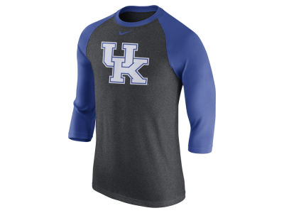 Kentucky Wildcats Nike NCAA Men's Triblend Logo 3/4 Sleeve Raglan T-Shirt