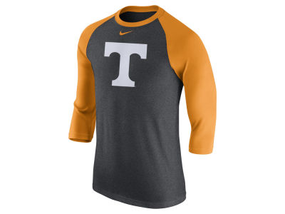 Tennessee Volunteers Nike NCAA Men's Triblend Logo 3/4 Sleeve Raglan T-Shirt