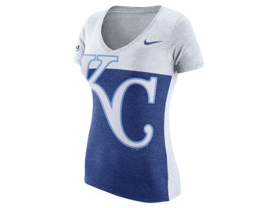 Kansas City Royals Nike MLB Women's Tri Blocked T-Shirt