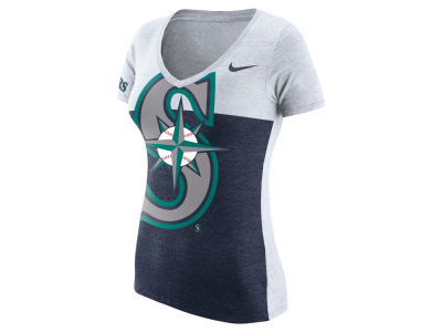 Seattle Mariners Nike MLB Women's Tri Blocked T-Shirt