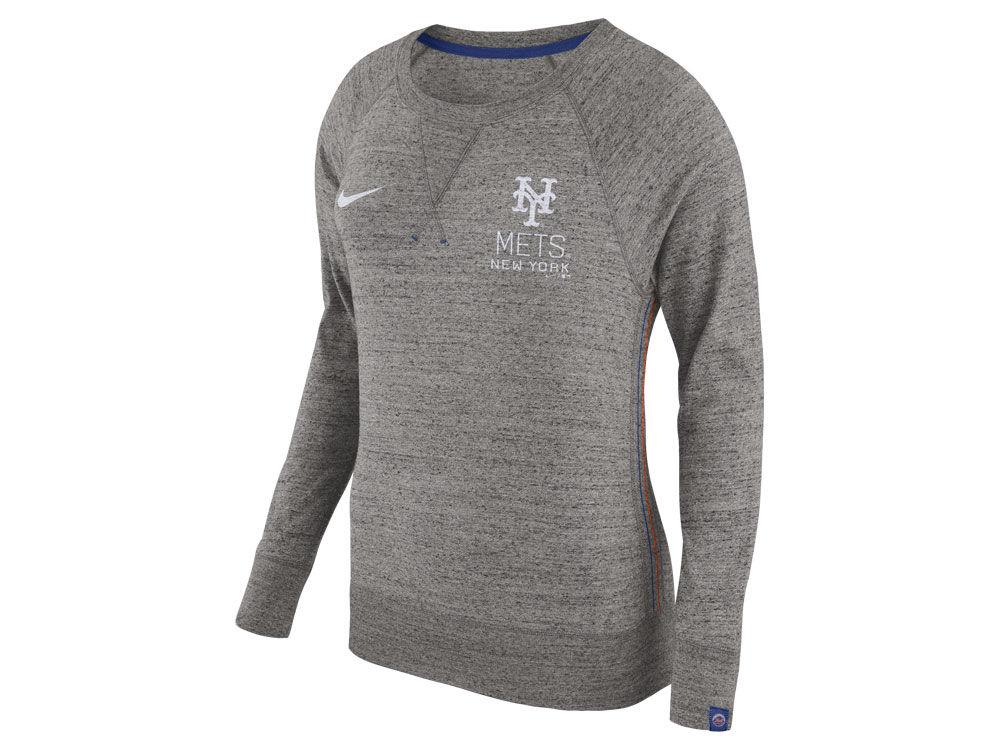 New York Mets Nike MLB Women s Vintage Crew Long Sleeve T-Shirt ... 0cd5f8ad7