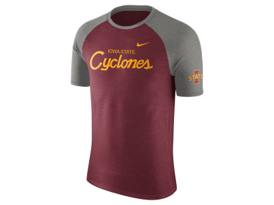 Iowa State Cyclones Nike NCAA Men's Script Triblend Raglan T-Shirt