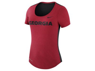 Georgia Bulldogs Nike NCAA Women's Dri-Blend Scoop T-Shirt