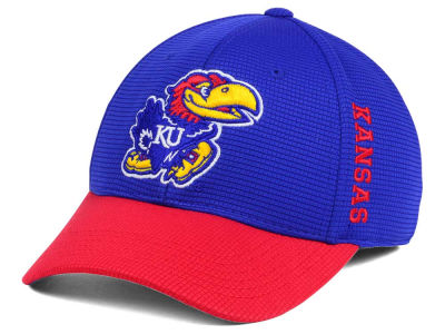 Kansas Jayhawks Top of the World Booster 2Tone Flex Cap