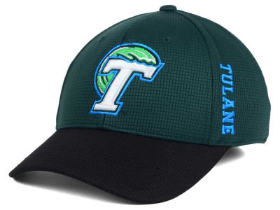 Tulane Green Wave Top of the World Booster 2Tone Flex Cap