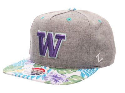 Washington Huskies Zephyr NCAA Tradewind Snapback Cap
