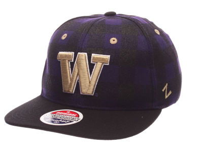 Washington Huskies Zephyr NCAA Plaid Snapback Cap