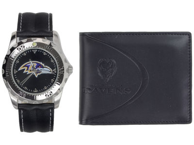 Baltimore Ravens Watch and Wallet Set