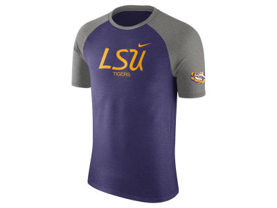 LSU Tigers Nike NCAA Men's Script Triblend Raglan T-Shirt
