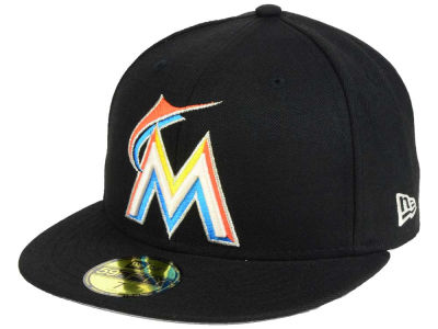 Miami Marlins New Era MLB Classic Gray Under 59FIFTY Cap