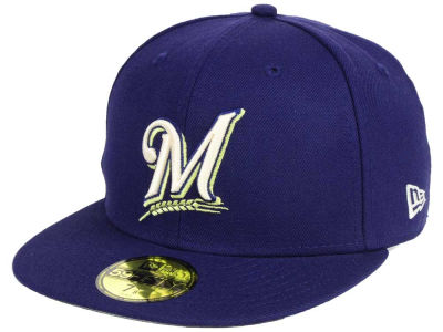 Milwaukee Brewers New Era MLB Classic Gray Under 59FIFTY Cap