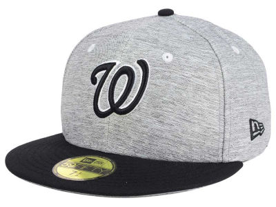 Washington Nationals New Era MLB Shady Black 59FIFTY Cap