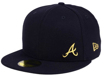 Atlanta Braves New Era MLB Flawless OGold 59FIFTY Cap