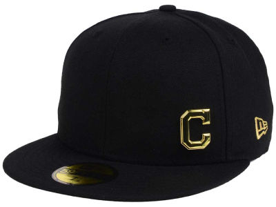 Cleveland Indians New Era MLB Flawless OGold 59FIFTY Cap