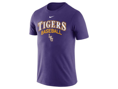 LSU Tigers Nike NCAA Men's Baseball Cotton Script Logo T-Shirt