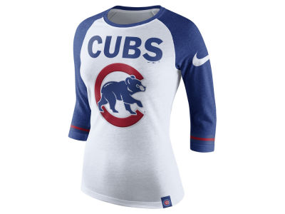 Chicago Cubs Nike MLB Women's Tri Raglan T-Shirt