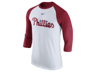 Philadelphia Phillies Nike MLB Men's Wordmark Raglan T-Shirt