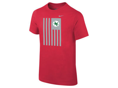 Ohio State Buckeyes Nike NCAA Youth Color Blocked Flag T-Shirt