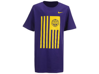 LSU Tigers Nike NCAA Youth Color Blocked Flag T-Shirt