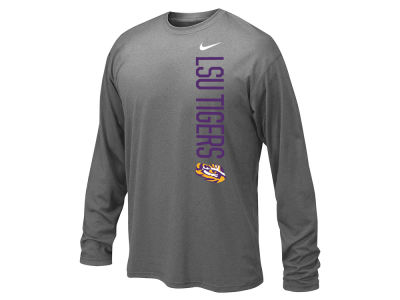 LSU Tigers Nike NCAA Youth Vertical Mascot Legend Long Sleeve T-Shirt