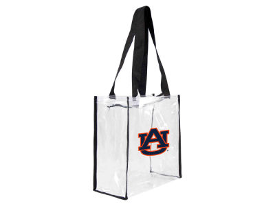Auburn Tigers Clear Square Zip Tote