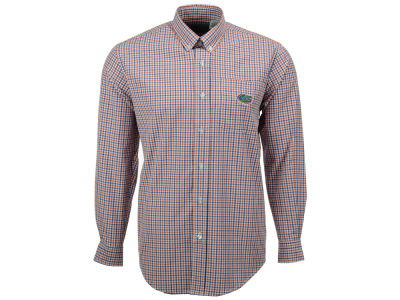 Florida Gators NCAA Men's Gingham Check Button Down Shirt