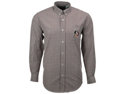 Florida State Seminoles NCAA Men's Gingham Check Button Down Shirt