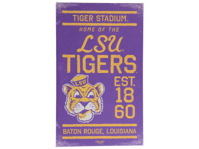 LSU Tigers Canvas Wall Art 14 x 23