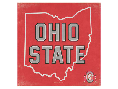 Ohio State Buckeyes State Canvas Wall Art 16.5 x 16.5