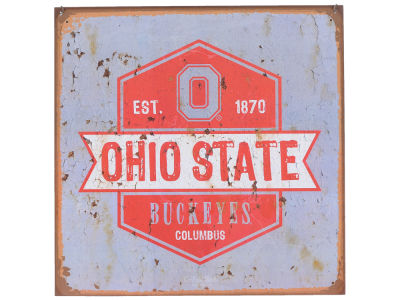 Ohio State Buckeyes 12x12 Slant Tin Sign