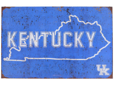 Kentucky Wildcats State Tin Sign 11x17