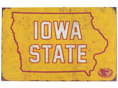 Iowa State Cyclones State Tin Sign 11x17
