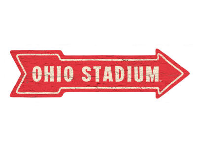 Ohio State Buckeyes This Way Wall Arrow 6.5 x 24