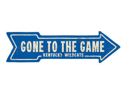 Kentucky Wildcats This Way Wall Arrow 6.5 x 24
