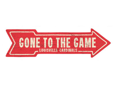Louisville Cardinals This Way Wall Arrow 6.5 x 24