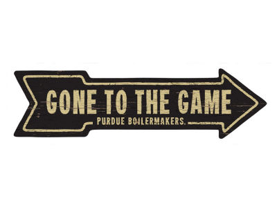 Purdue Boilermakers This Way Wall Arrow 6.5 x 24