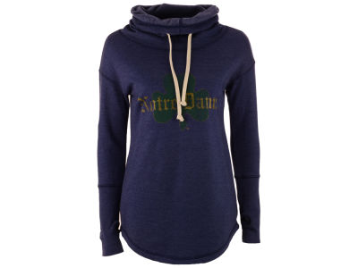 Notre Dame Fighting Irish Retro Brand NCAA Women's Funnel Neck Sweatshirt